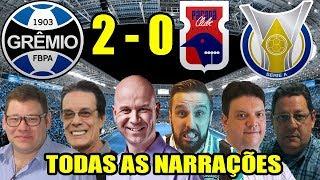 Todas as narrações - Grêmio 2 x 0 Paraná / Brasileirão 2018