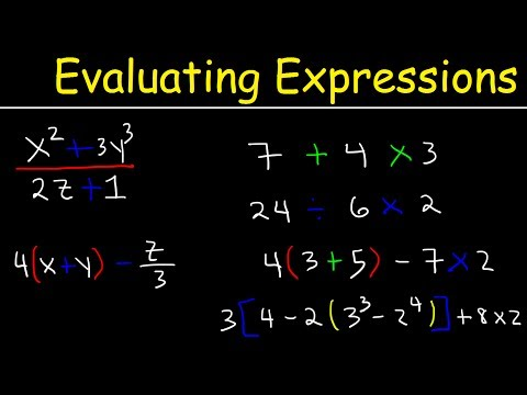 Evaluating Expressions With Variables, Fractions, and Exponents, Pre-Algebra, Order of Operations