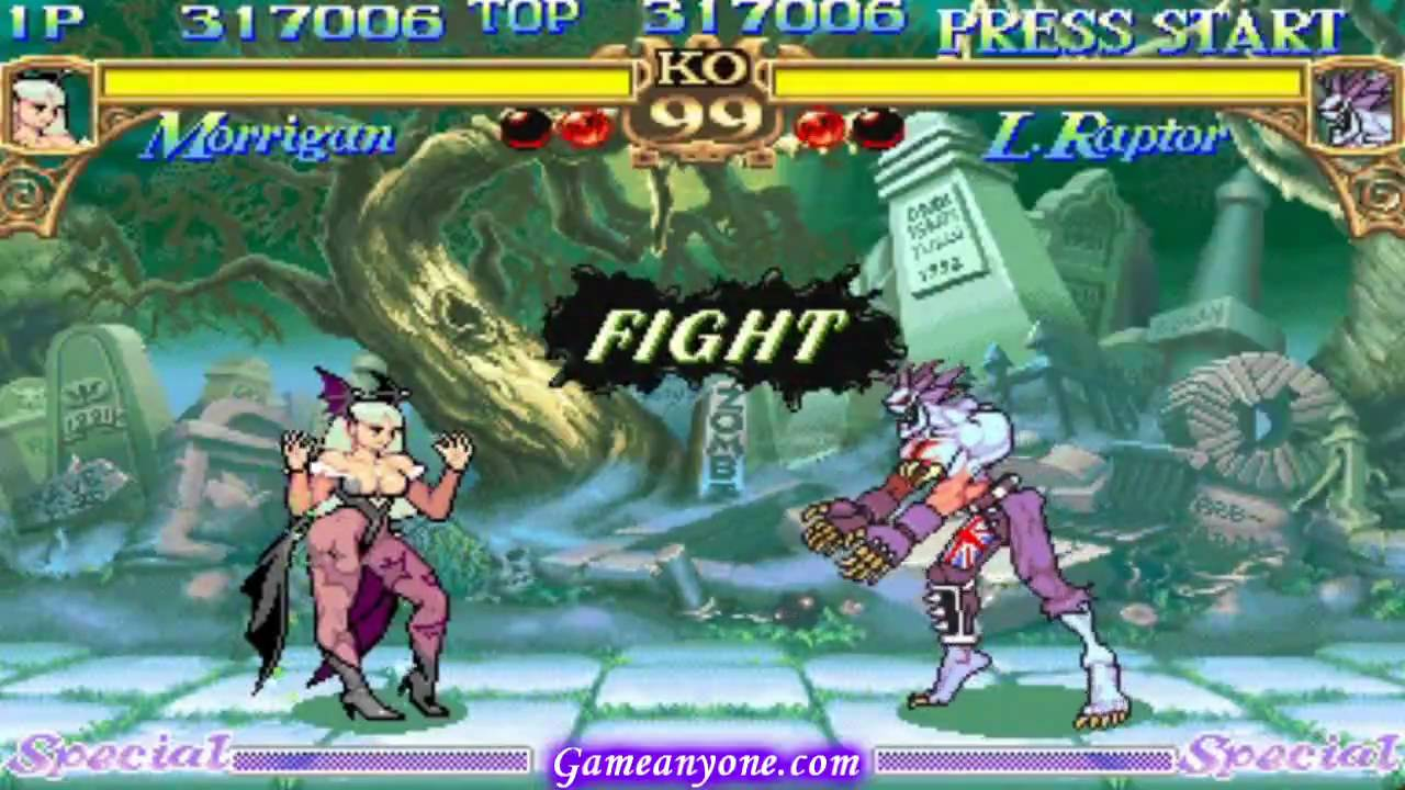 Darkstalkers 1 - Morrigan Playthrough 2/4 - YouTube
