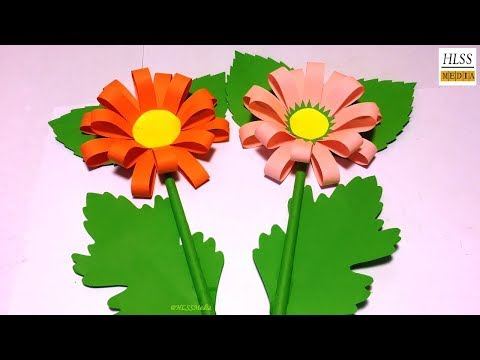 How to make paper flower (Sunflower) | Making paper flower easy | DIY paper crafts