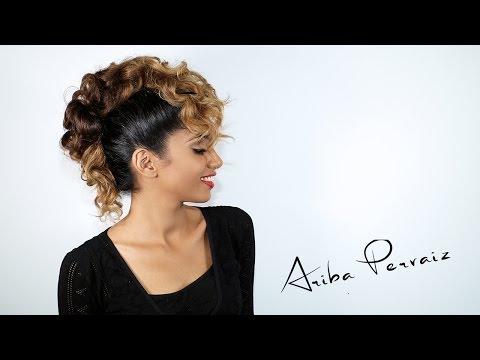 Curly Faux Hawk - Hair Tutorial | ARIBA PERVAIZ