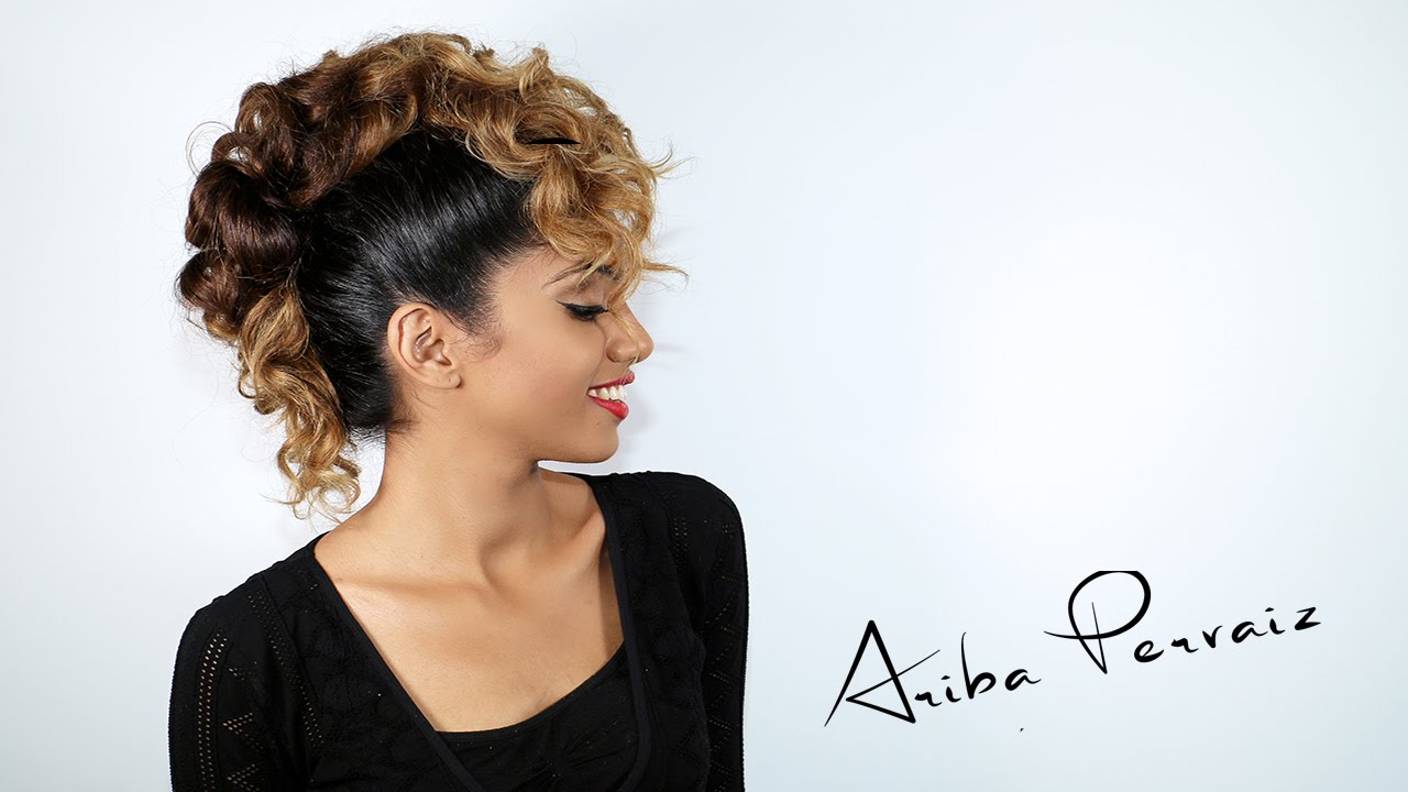 Curly Faux Hawk Hair Tutorial Ariba Pervaiz