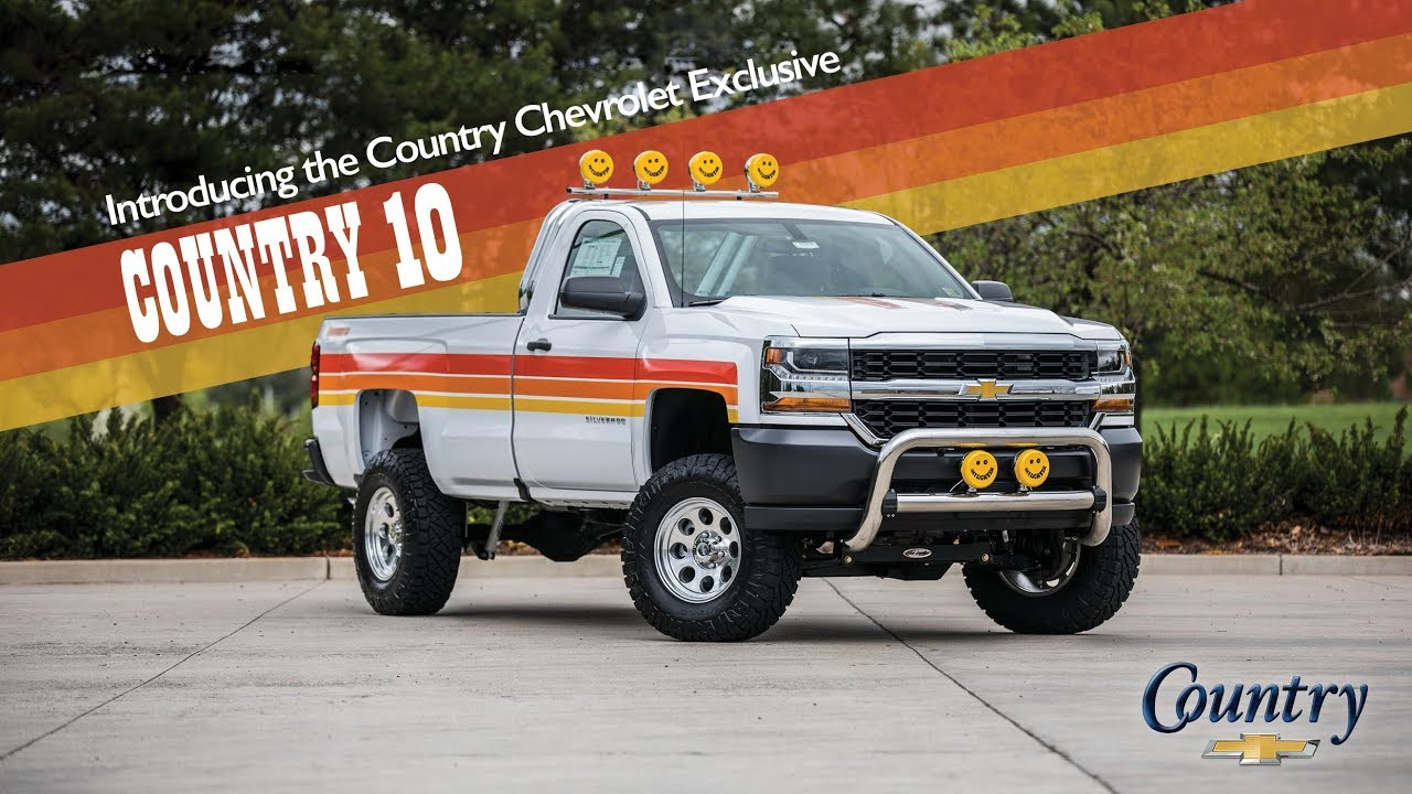 Chevy Truck Wheels >> 2018 Chevrolet Silverado Regular Cab, Long Bed COUNTRY 10 Retro truck - YouTube