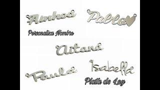 Mostramos Collar de Plata Personalizado con Nombre.
