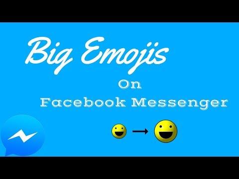 Make Bigger Emoji On Facebook Messenger