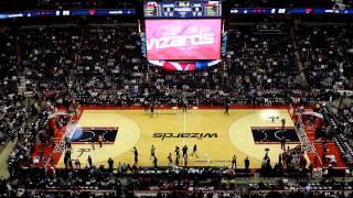 Entrada do Wizards - Verizon Center - Washington Wizards x Oklahoma Thunder