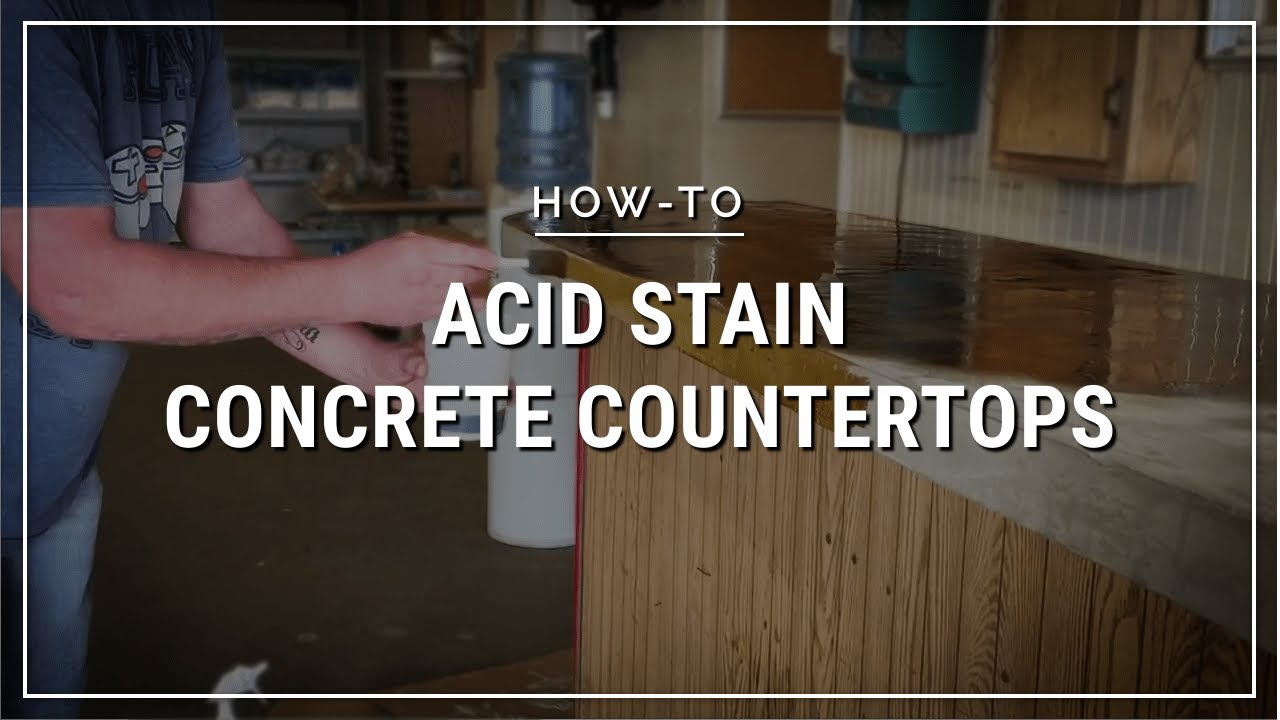 Lying Concrete Acid Stain To An Overlay Countertop