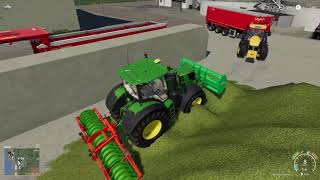 John Deere VS Olbrzymia Pryzma Sieczki E38 | Farming Simulator 19