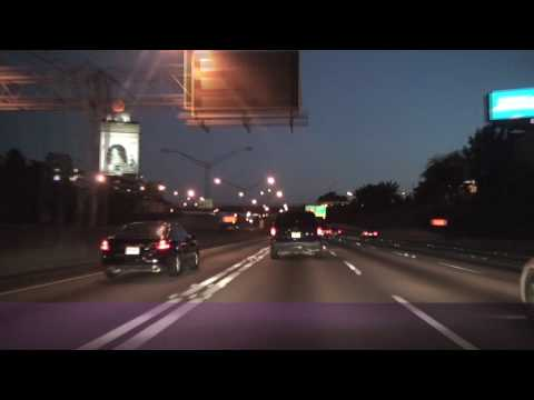 Atlanta, GA Downtown Freeways at Night