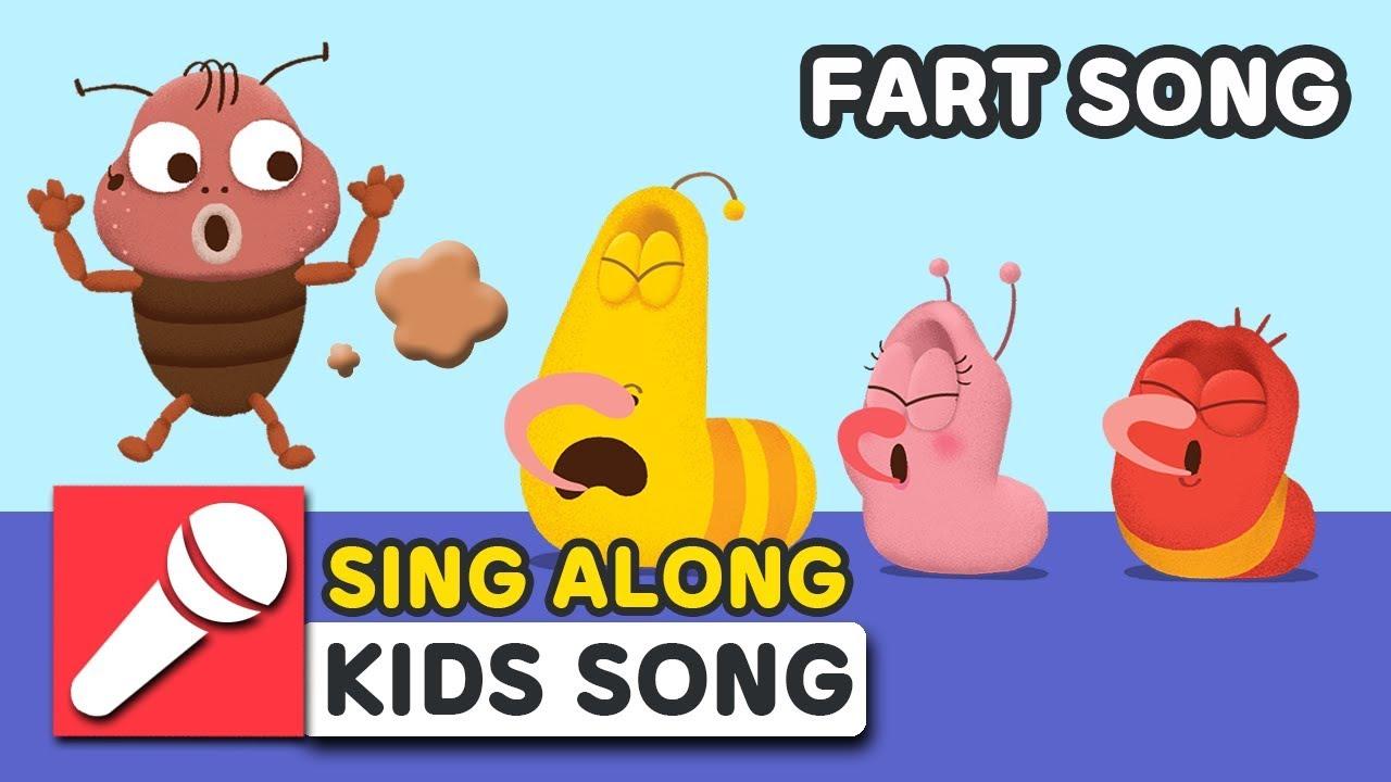 FART SONG   LARVA KIDS   SING ALONG   BEST NURSERY RHYME   FUNNY SONG