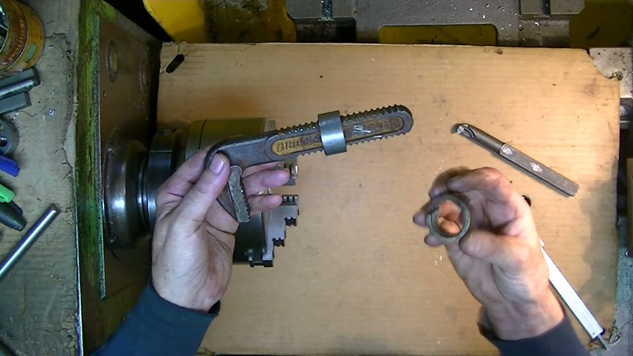 Tokarka jak naprawiłem uszkodzony klucz szwed-dorobiłem specjalną nakrętkę