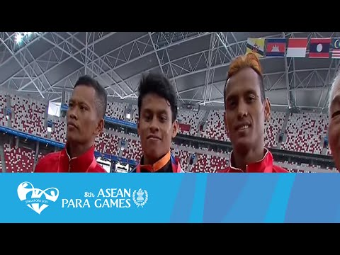 Athletics (Day 6 Morning) Men's 1500m T20 Victory Ceremony | 8th ASEAN Para Games 2015