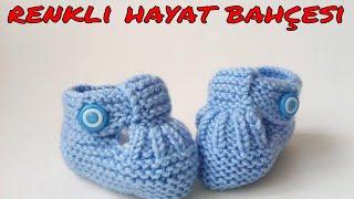 Bantlı Bebek Patiği Modeli ( 0- 6 AY )  Anlatımlı Yapılışı -  Örgü Dantel Oya El İşi
