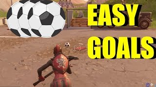 "How To ""Score A Goal On Different Pitches"" All Soccer Pitch Locations Fortnite (Week 7 Challenges)"
