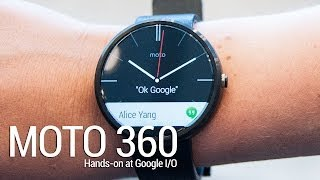 Moto 360 hands-on at Google I/O