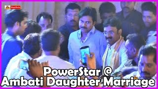 Pawan Kalyan Attend Ambati Rambabu Daughter Marriage @ Guntur