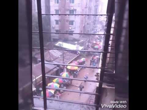 Rain in Dhaka || Enjoying rain from my balcony || Raining weather