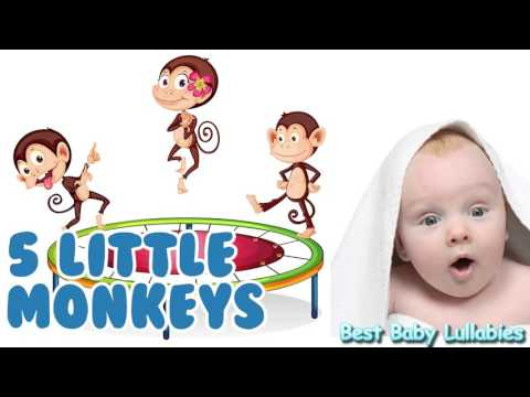 ♥ Songs To Put A Baby To Sleep Lyrics-Baby Lullaby Lullabies for Bedtime 5 Little Monkeys