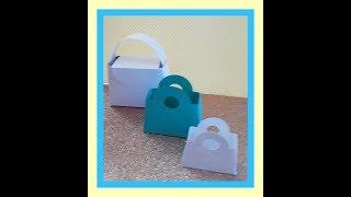 DIY Purse Party Favor, treat bag, paper- tutorial