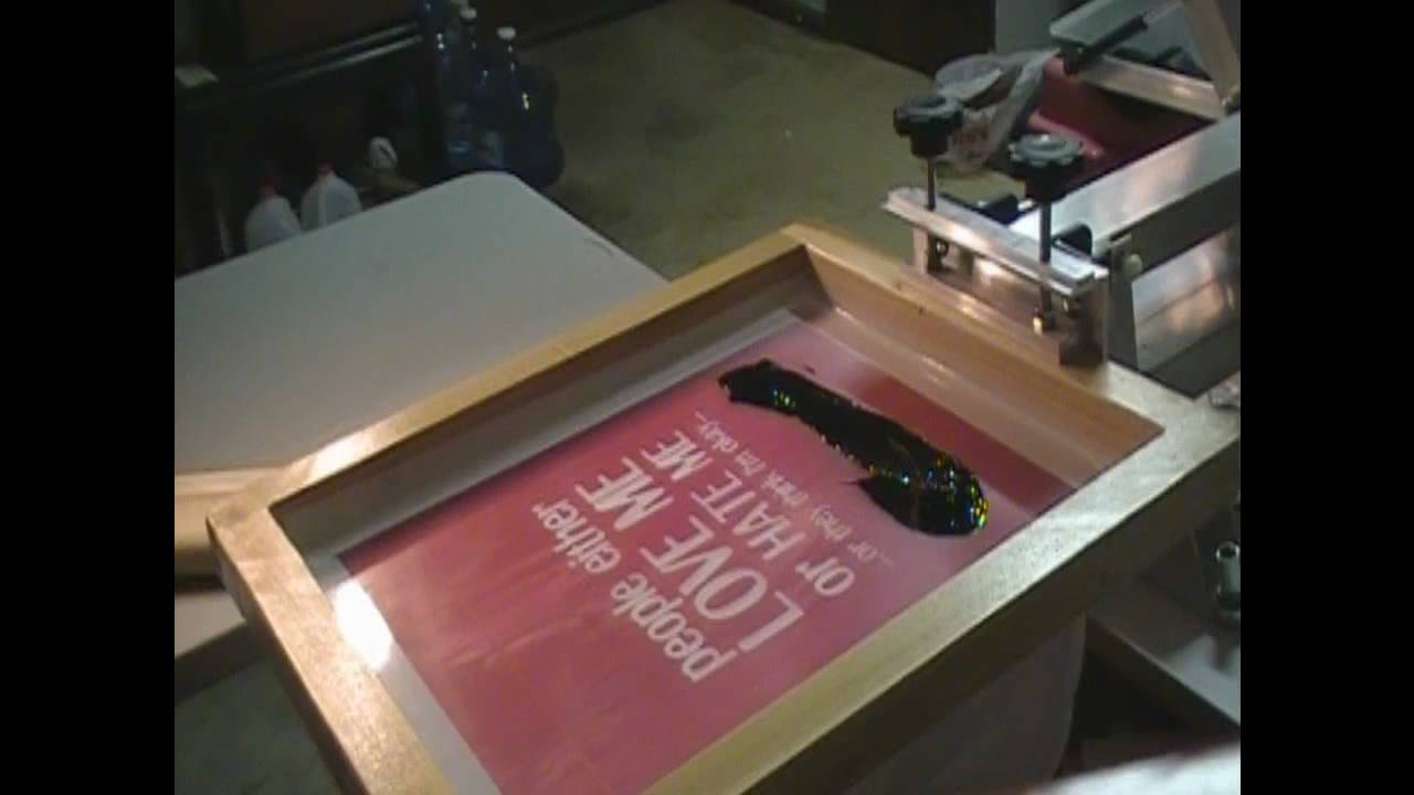 Le t shop making of obsek 4 color process cmyk t shirt youtube - Printing A One Color T Shirt