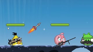 Angry Birds Ultimate Battle - CHUCK AND STELLA SHOOTING BAD PIGGIES!