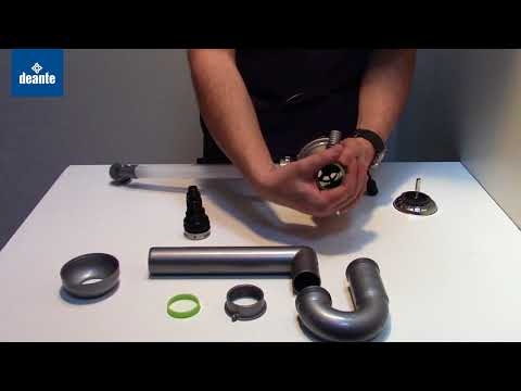 Syfon do zlewozmywaków granitowych 1-komorowych montaż - Deante