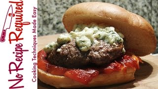 Washington Redskins Blue & Red Burger - NFL Burgers - NoRecipeRequired.com