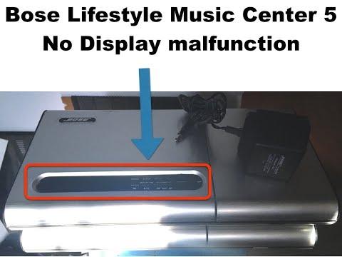 Bose lyfestyle model 5 music center repair no display
