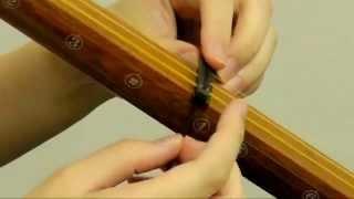 上調子に使う枷(かせ)のかけ方を説明しています。 品川大井町校・高円...