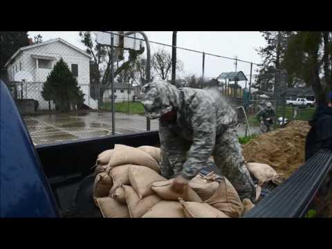National Guard Assess Flood Damage in Northern California