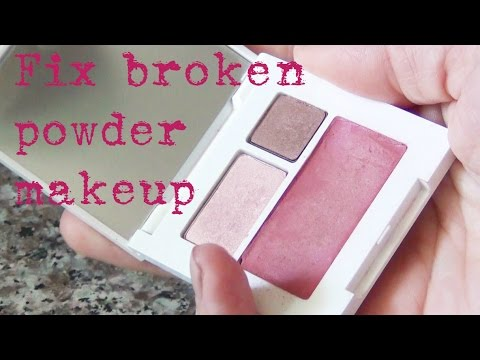 How To Fix Broken Powder Makeup ♥ DIY Solutions!
