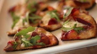 Grilled Flatbread w Plums & Burrata Recipe