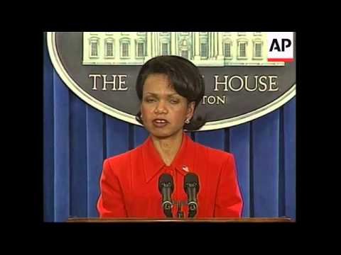 Condoleezza Rice comment on whether Iraq moved WMD to Syria