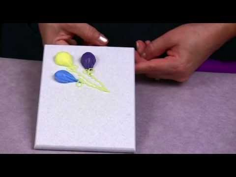 How To Make A Balloons Decorations For Your Cake Youtube