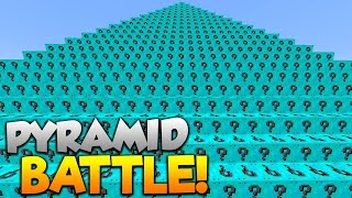 1v1v1 DIAMOND LUCKY BLOCKS PYRAMID BATTLE! - Minecraft Mods