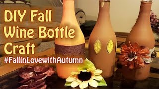 Fall Wine Bottle | Upcycle Crafts