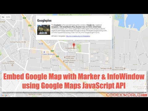 Google Map with Marker and Info Window using JavaScript - YouTube