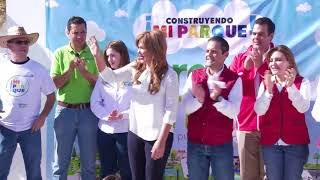 """Inician Gobernadora Claudia Pavlovich y alcalde Maloro Acosta """"Construyendo mi Parque"""""""