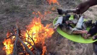 Traditional way to cook goat leg soup - Soup made in My Village - Attukal Soup - Goat Leg Soup