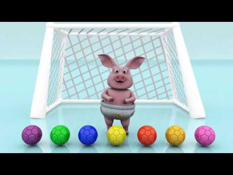 Thumbnail: Learn Colors For Kids With Pig Baby Play Football - Kids Learning Video - Learn Colors For Children