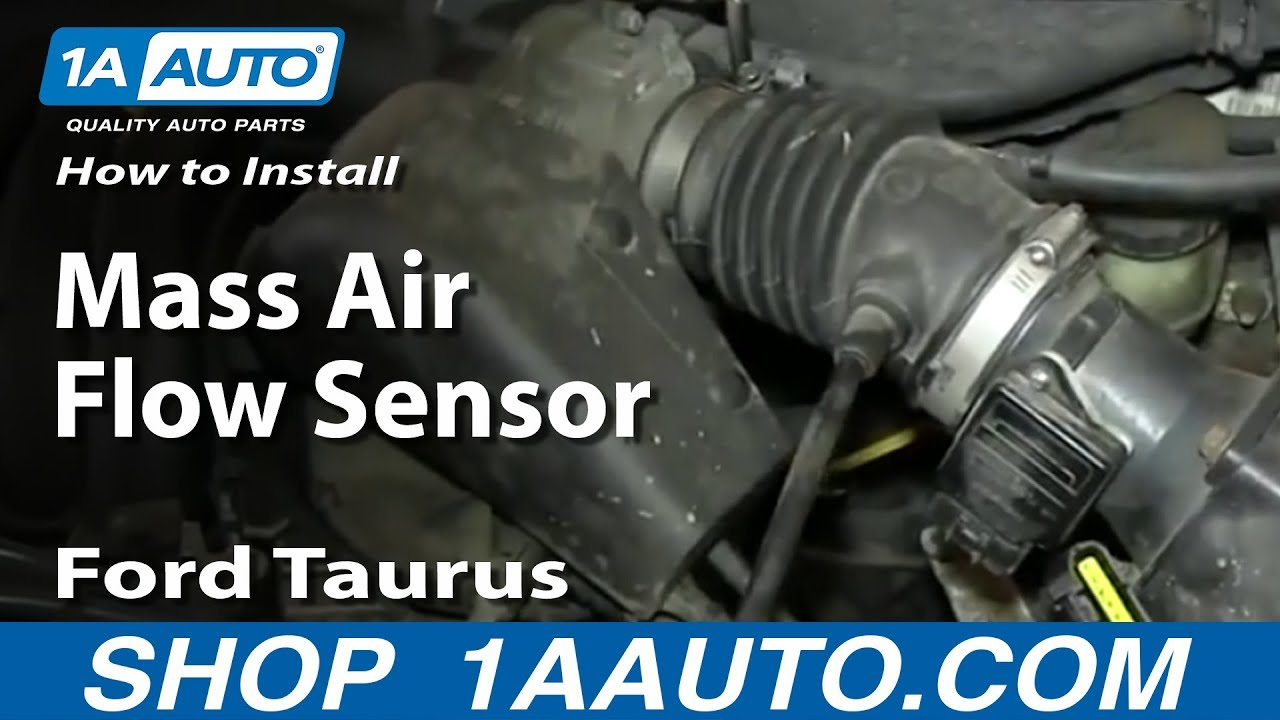 how to replace mass air flow sensor 00 03 ford taurus [ 1280 x 720 Pixel ]