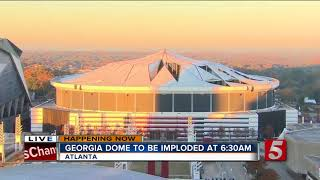 Georgia Dome Imploded In Downtown Atlanta