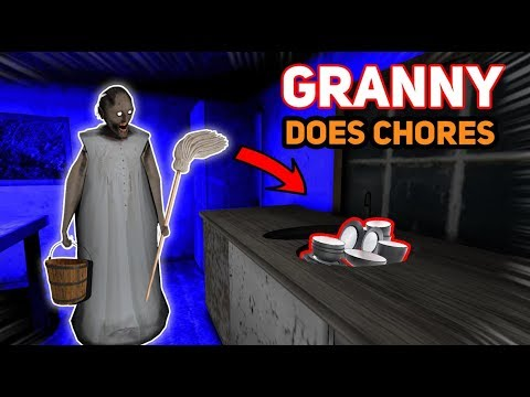 Making Granny DO ALL OF OUR CHORES!!! | Granny The Mobile Game (Knock Offs/Rip Offs)
