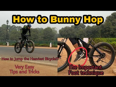 How to Bunny Hop   Jumping the Heaviest MTB with Ease   Technique to Lift Back Wheel