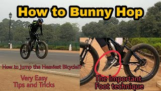 How to Bunny Hop | Jumping the Heaviest MTB with Ease | Technique to Lift Back Wheel