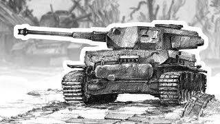 Battle of tanks - time lapse drawing