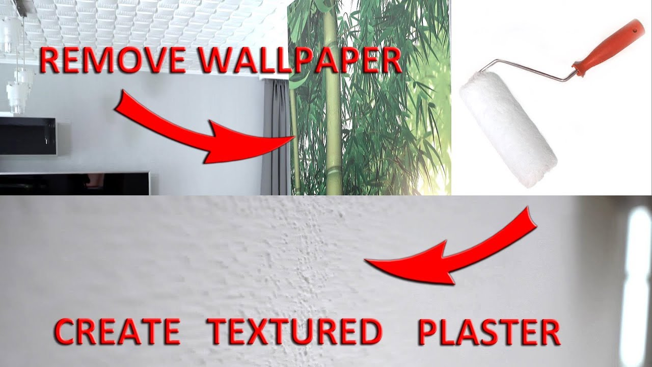 DIY/HOW TO remove Wallpaper and create TEXTURED PLASTER on ...