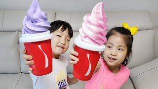 아이스크림을 만들어 먹을수 있을까? 서은이의 아이스크림 만들기 아이스크림 자판기 Ice Cream Vending Machine