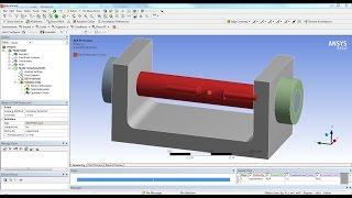 ANSYS 15 Tutorial - Frictional Contact & Bolt Pretension