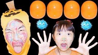 ★「かぶったら顔に落書き~!」ハロウィンカプセル60個★Halloween goods capsule toy★ thumbnail